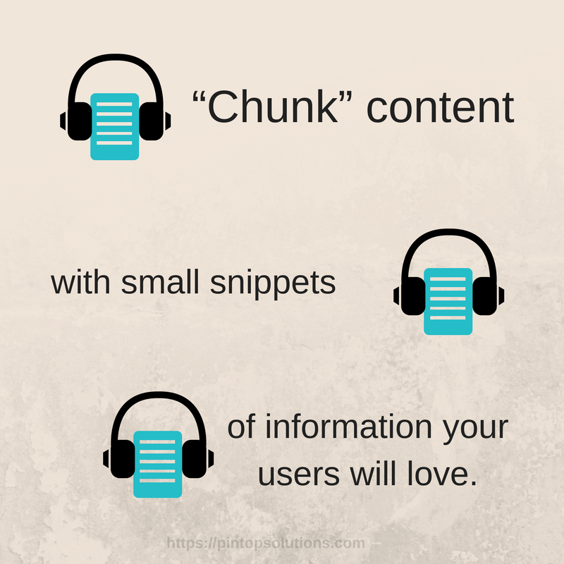 Increase Sales With Chunked Content - Pintop Solutions