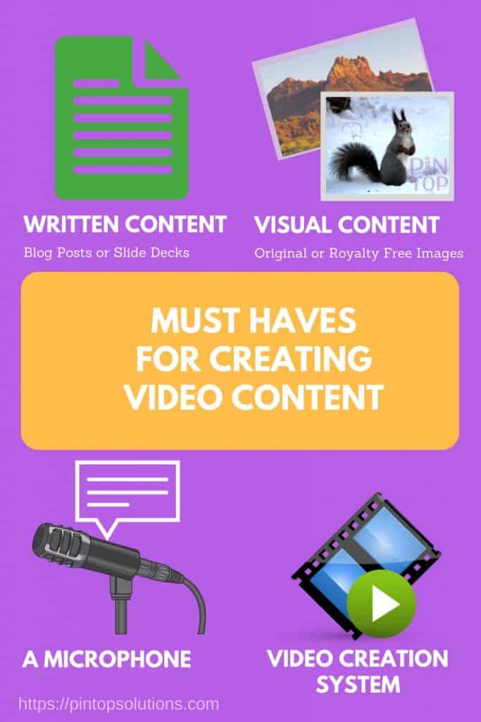 Must Haves For Creating Video Content